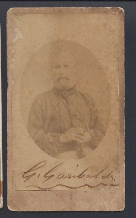 Giuseppe Garibaldi Signed CDV 1867 - Italian General & Politician Lombardi Photo
